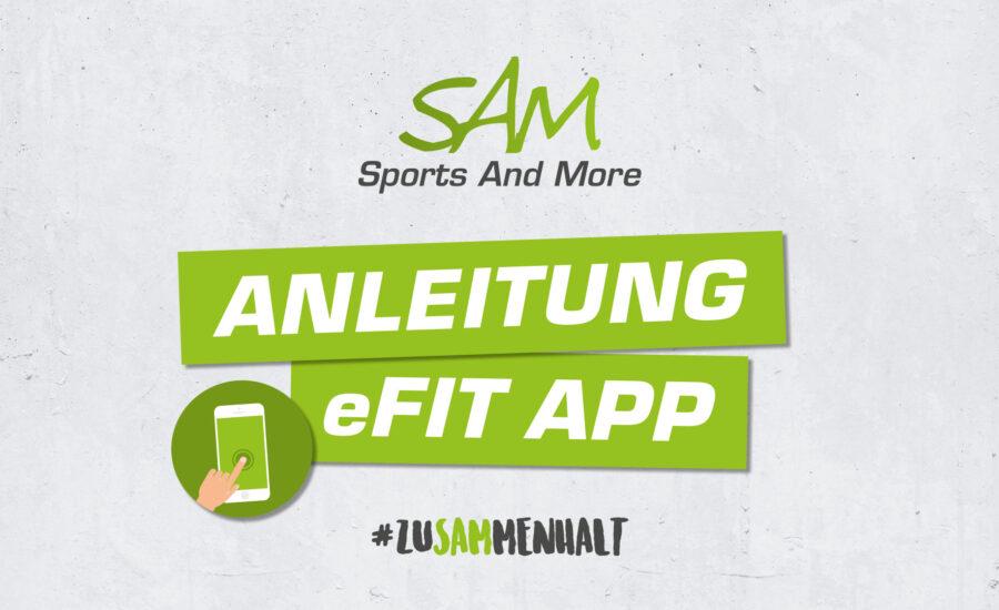 Videoanleitung eFit App
